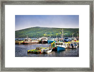 Fishing Boats In Newfoundland Framed Print by Elena Elisseeva