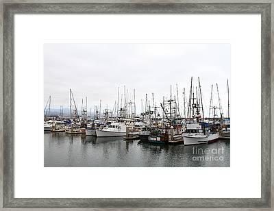 Fishing Boats In Pillar Point Harbor At Half Moon Bay California . 7d8196 Framed Print by Wingsdomain Art and Photography