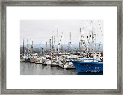 Fishing Boats In Pillar Point Harbor At Half Moon Bay California . 7d8208 Framed Print by Wingsdomain Art and Photography