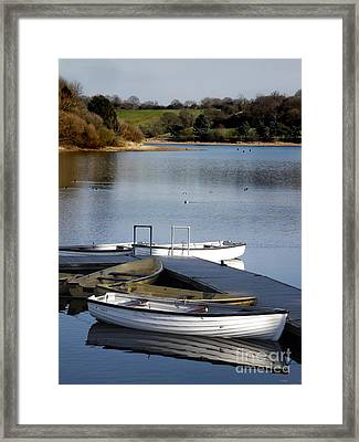 Fishing Boats Framed Print by Linsey Williams