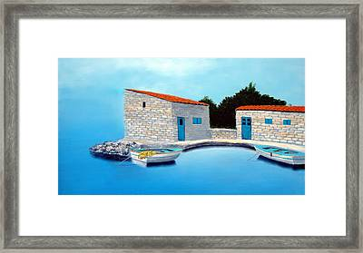 Fishing Boats Of The Mediterranean Framed Print