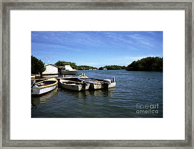 Fishing Boats Paguera Framed Print by Thomas R Fletcher