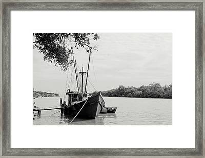 Fishing Bumboat Framed Print by Photo Copyright of Love Image Lab (by Sim Chin Ping)