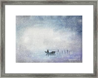 Fishing By Moonlight Framed Print by Annemeet Hasidi- van der Leij