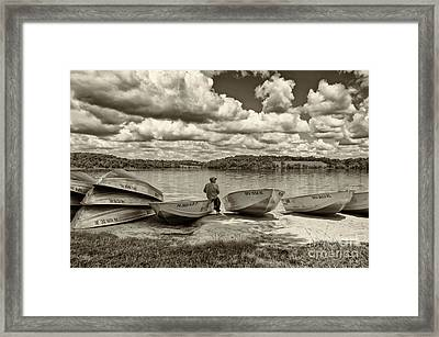 Fishing By The Boats 2 Framed Print by Jack Paolini