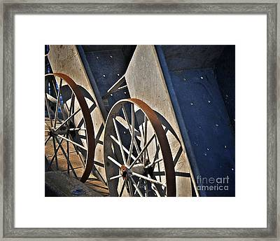 Framed Print featuring the photograph Fishing Cart II by Sherry Davis