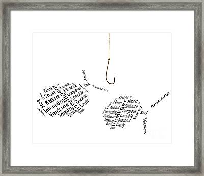 Fishing For Compliments Framed Print by Simon Bratt Photography LRPS