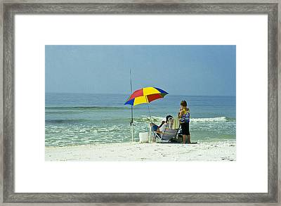 Fishing For Fun Framed Print by Heiko Koehrer-Wagner