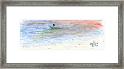 Fishing For Starfish Framed Print by Michael Mooney