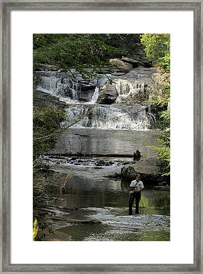 Fishing For Trout Framed Print