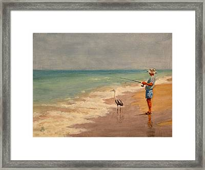 Fishing Friends Framed Print