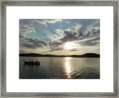 Fishing In Heaven Framed Print by Brian  Maloney