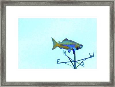 Fishing In Vane Framed Print by Randall Weidner