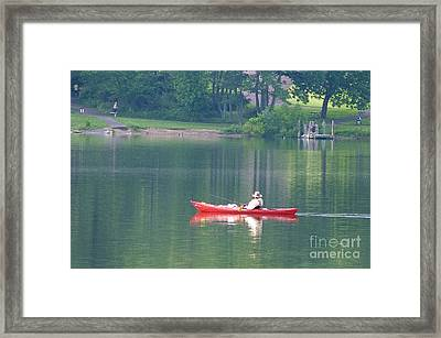 Fishing Framed Print by Louise Peardon