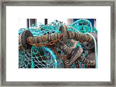 Fishing Nets Framed Print by Jo