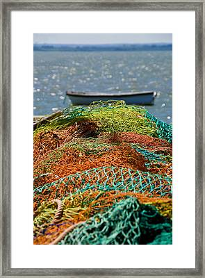 Framed Print featuring the photograph Fishing Nets by Trevor Chriss