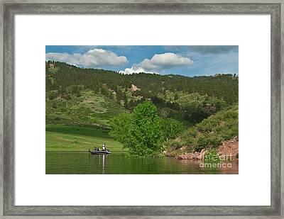 Fishing On Horsetooth Reservoir Framed Print by Harry Strharsky