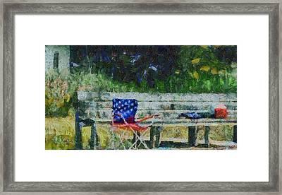 Fishing On Memorial Day Framed Print by Trish Tritz