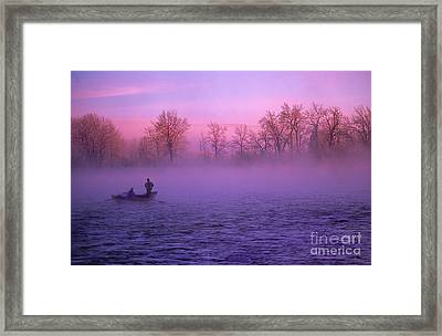 Fishing On The Bow Framed Print by Bob Christopher
