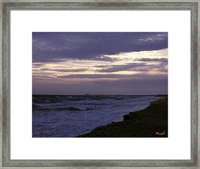 Fishing Pier Before The Storm 14a Framed Print by Gerry Gantt