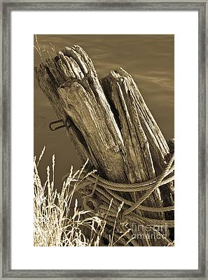 Fishing Pier Tie-up Framed Print