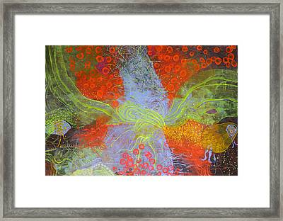 Framed Print featuring the painting Fishing Rabbit by Lolita Bronzini
