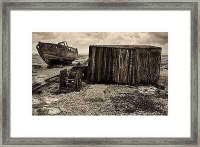 Fishing Remains At Dungeness Framed Print by David Turner