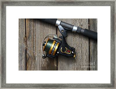 Fishing Rod And Reel . 7d13542 Framed Print by Wingsdomain Art and Photography