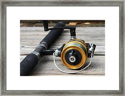 Fishing Rod And Reel . 7d13547 Framed Print by Wingsdomain Art and Photography
