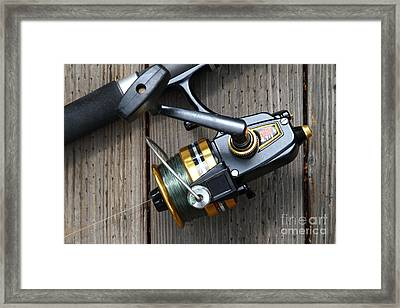 Fishing Rod And Reel . 7d13565 Framed Print by Wingsdomain Art and Photography