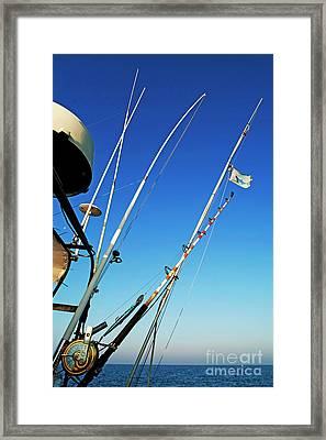 Fishing Rods Framed Print by Sami Sarkis