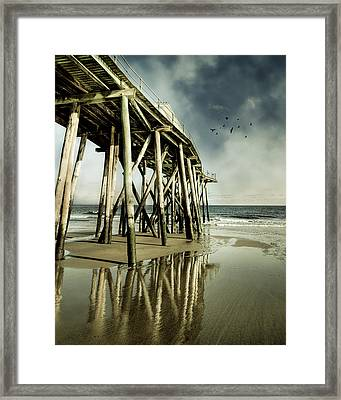 Fishing Shack Pier Framed Print