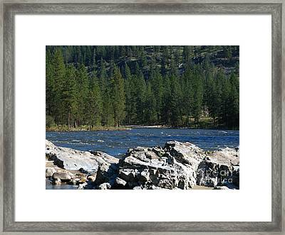 Fishing Spot Framed Print by Greg Patzer