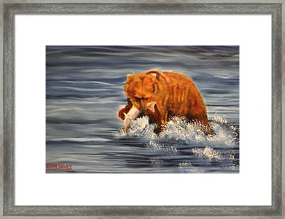 Fishing Framed Print by Terry Lewey