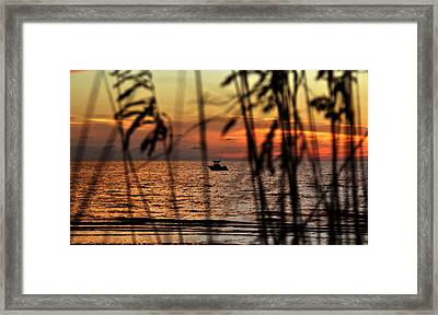 Fishing The Coast Framed Print by David Lee Thompson