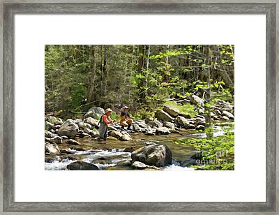 Fishing The Little Pigeon River - D005193 Framed Print by Daniel Dempster