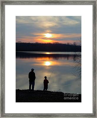 Fishing Framed Print