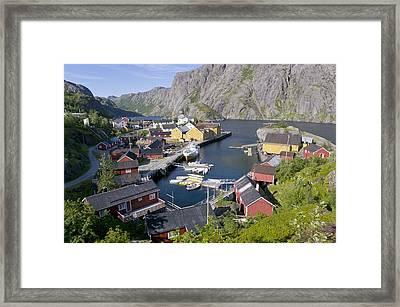 Fishing Village, Norway Framed Print