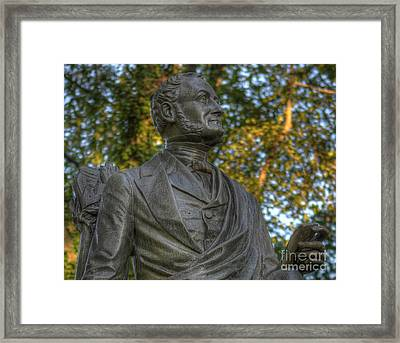 Fitz Greene Halleck In Central Park II Framed Print