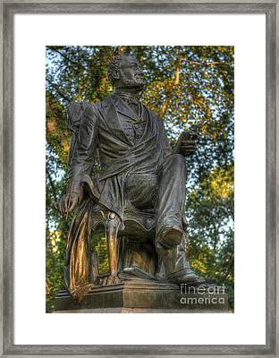 Fitz Greene Halleck In Central Park Framed Print