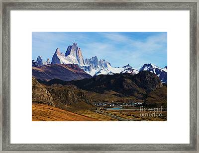 Fitz Roy Framed Print by Bernard MICHEL