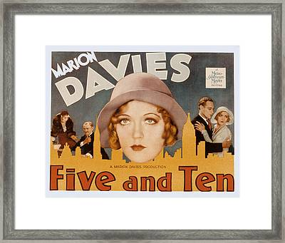 Five And Ten, Marion Davies, Richard Framed Print by Everett