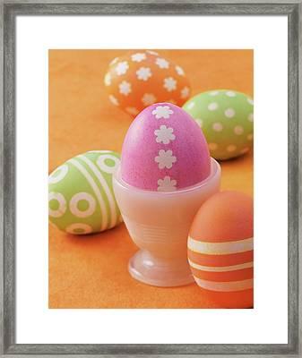 Five Easter Eggs Framed Print by Digital Vision.