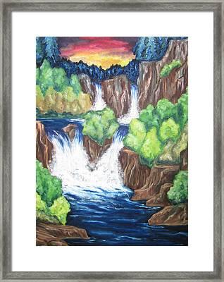 Five Falls Framed Print by Cheryl Pettigrew