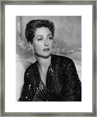 Five Fingers, Danielle Darrieux, 1952 Framed Print