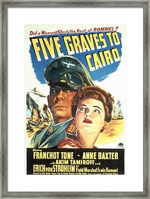 Five Graves To Cairo, Erich Von Framed Print by Everett