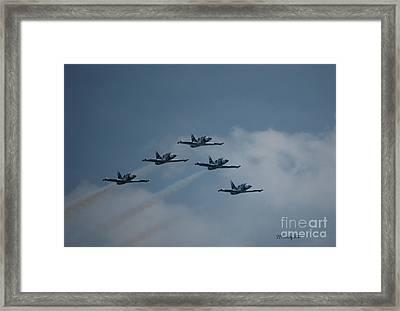 Five Man Formation Framed Print