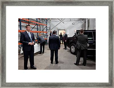 Five Secret Service Agents Guard Framed Print