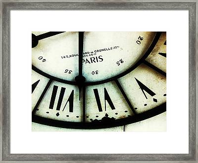 Five Six Seven Framed Print by Olivier Calas