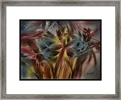 Framed Print featuring the pastel Fivepetalscomp 2010 by Glenn Bautista
